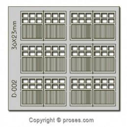 PUERTAS DOBLES 36 X 23 mm....